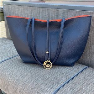 BCBG Reversible Leather Tote